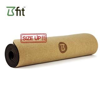 비핏 코르크 TPE 와이드요가매트 (6mm블랙) 요가매트, 필라테스매트