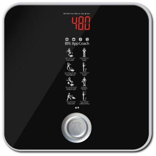 비핏 스마트 디지털 체중계 블랙실버 ABS1402EB