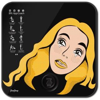 비핏 스마트 디지털 체중계 팝아트 블랙 ABS1402EPB