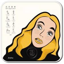 비핏 스마트 디지털 체중계 팝아트 화이트 ABS1402EPW